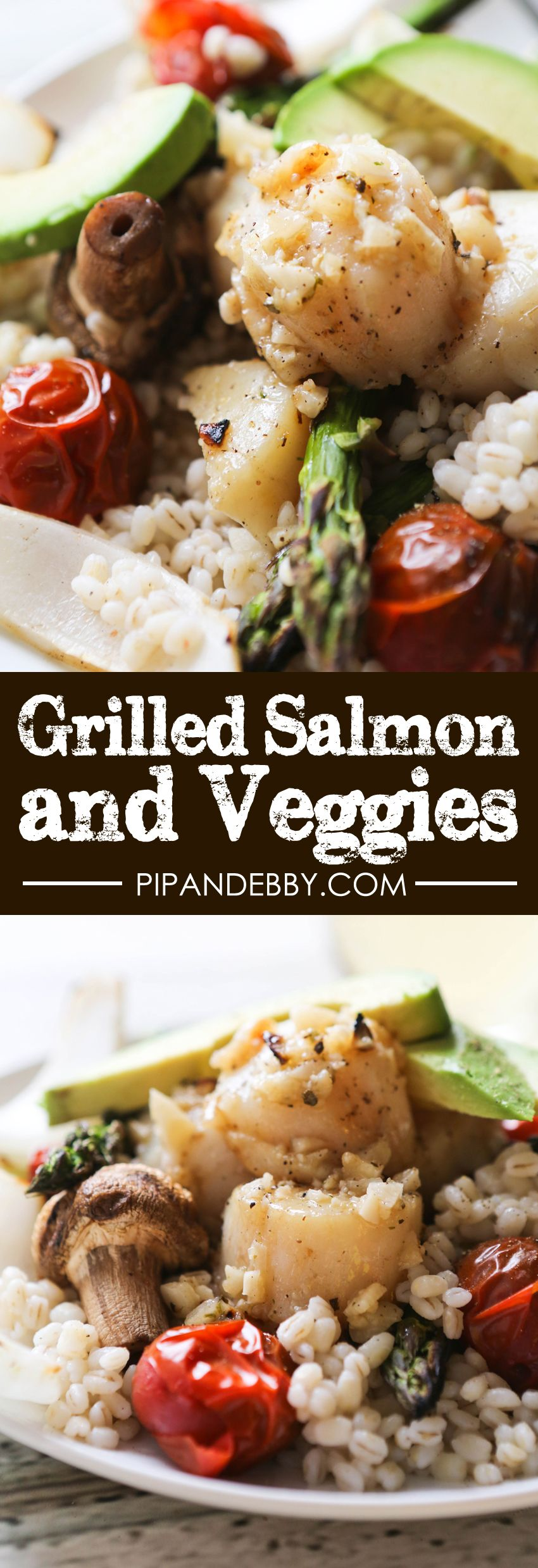 Grilled Scallops and Veggies | This is the PERFECT summer grilling recipe! Light, flavorful, easy to make and full of texture.