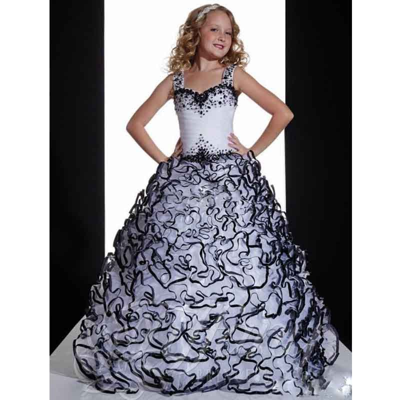 Find More Flower Girl Dresses Information about 2017 New Balck White ...