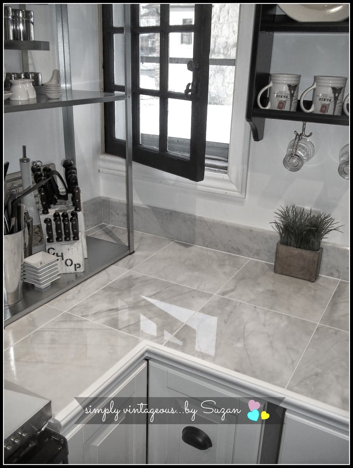 marble tile countertops | Kitchen designs | Pinterest ...