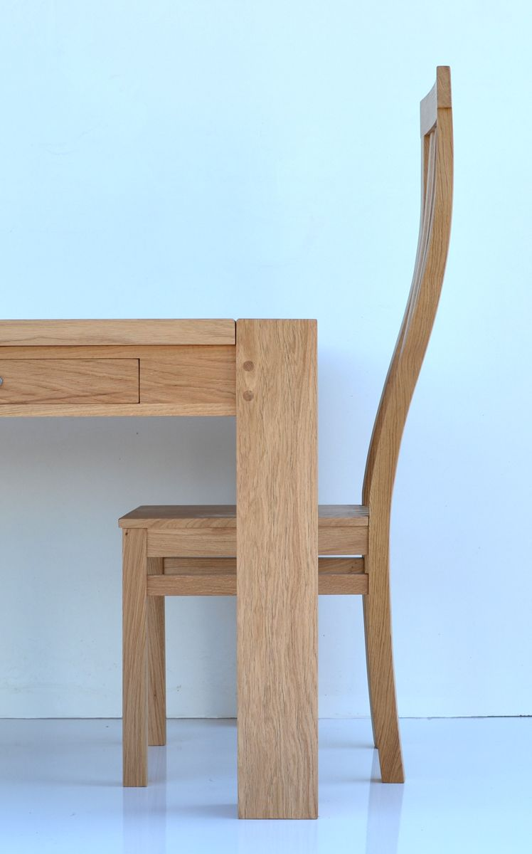 Contemporary Dining Table With High Back Oak Chair Makers Bespoke Furniture Uk France