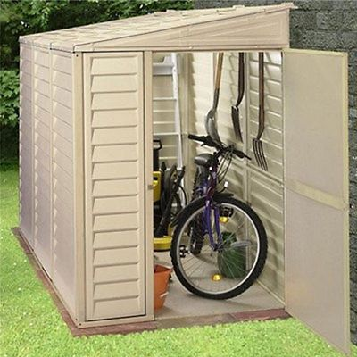 Wonderful Duramax Sidemate 4x8 Ivory Lean To Plastic Garden Shed | Garden Sheds |  Garden Structures U0026 Shade