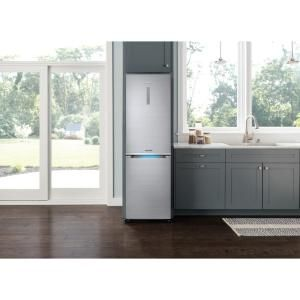 Samsung Chef Collection 24 In W 12 Cu Ft Bottom Freezer Refrigerator In Stainless Steel Counter Depth Rb12j8896s4 The Home Depot
