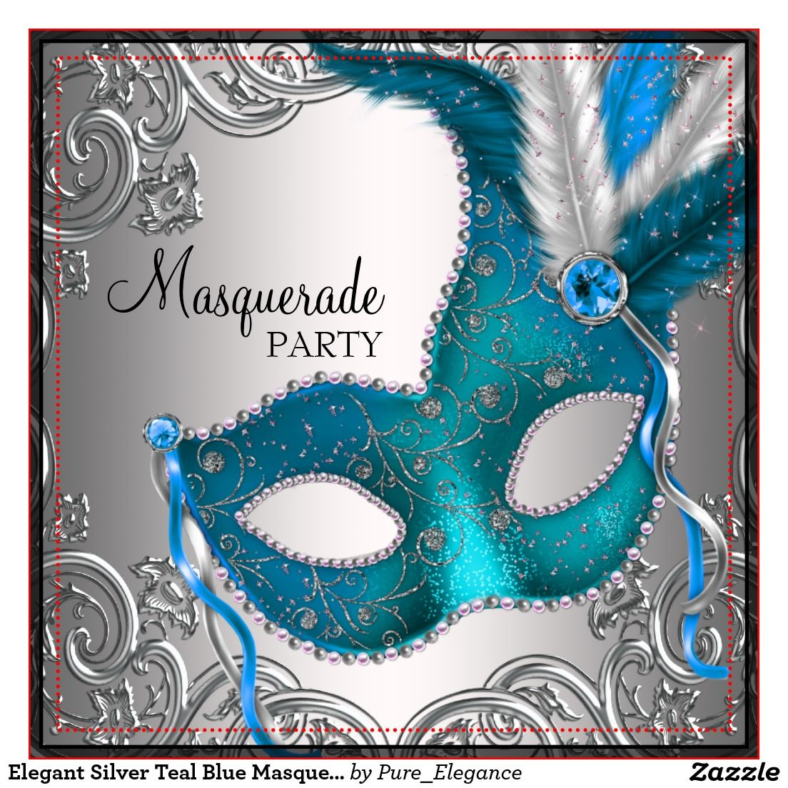 Invitation inspiration and a fancy menu too! | Masquerade Party ...