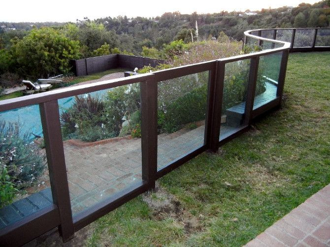 fencing solutions plexiglass fence modern fence design