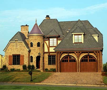 Turret Design Ideas Pictures Remodel And Decor Tudor House Exterior Tudor Style Homes Tudor House