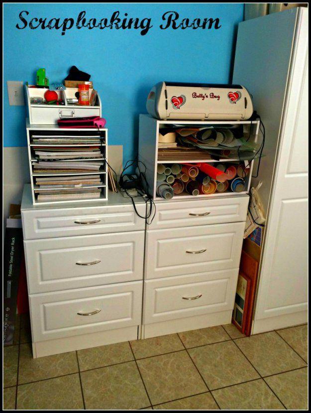 Scrapbook Room / agutandabutt.com  #scrapbooking #crafting #organizing
