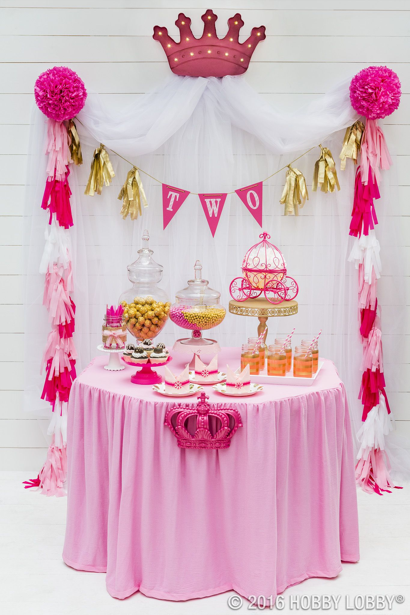 Go For Gold And Pink Of Course For Your Princess S Next Big Bash Princess Theme Birthday Princess Theme Birthday Party Princess Birthday Party