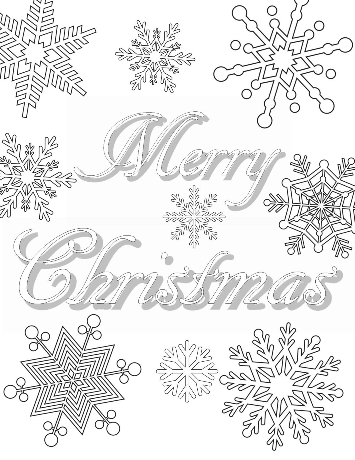 Free Printable Christmas Coloring Pages For Adults  Organize
