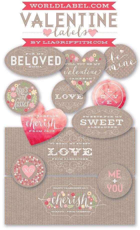 Printable ValentineS Day Labels  Vintage Valentines Labels Free