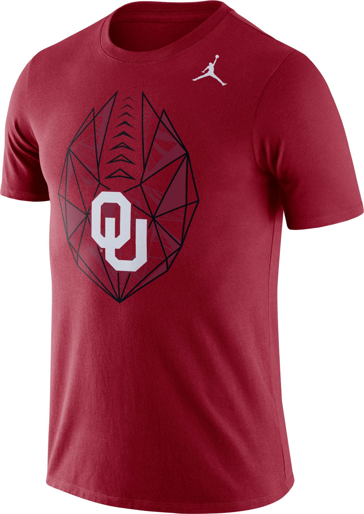 3101c94e654f Jordan Men s Oklahoma Sooners Crimson Dri-FIT Football Icon T-Shirt ...