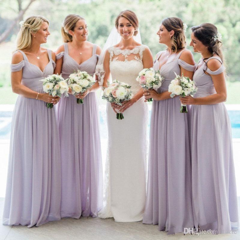 Lavender Ruched Chiffon Country Garden Long Bridesmaid Dresses 2018 Off S Lilac Bridesmaid Dresses Lavender Bridesmaid Dresses Lilac Bridesmaid Dresses Chiffon