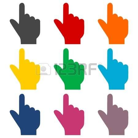 Pointing Hand Vector Icon Pointing Hand Hands Icon Vector Icons