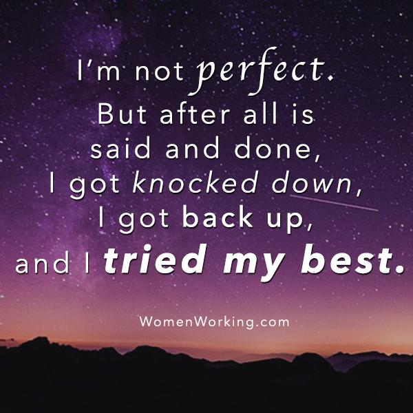 I M Not A Perfect Person Inspirasional Bijak Kutipan