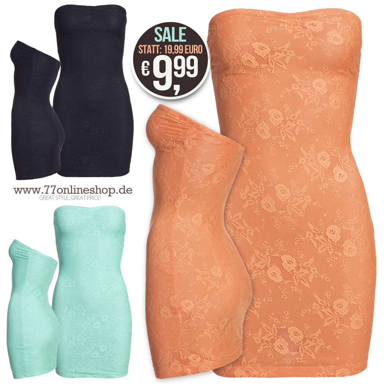 SALE: BANDEAU MINI KLEID MIT SPITZE! #sale #bandeau #minikleid #dress #lace #spitze