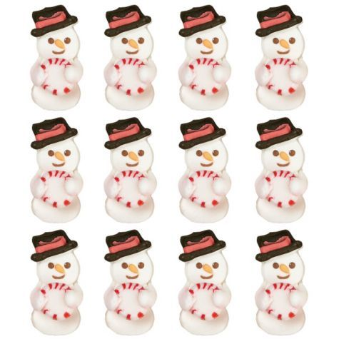 Snowman Icing Decorations 12ct - Party City