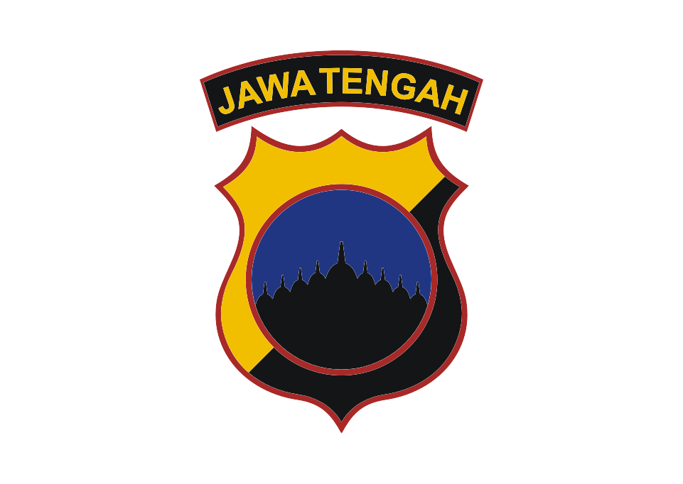 Logo Polda Jawa Tengah Vector Stiker Polisi