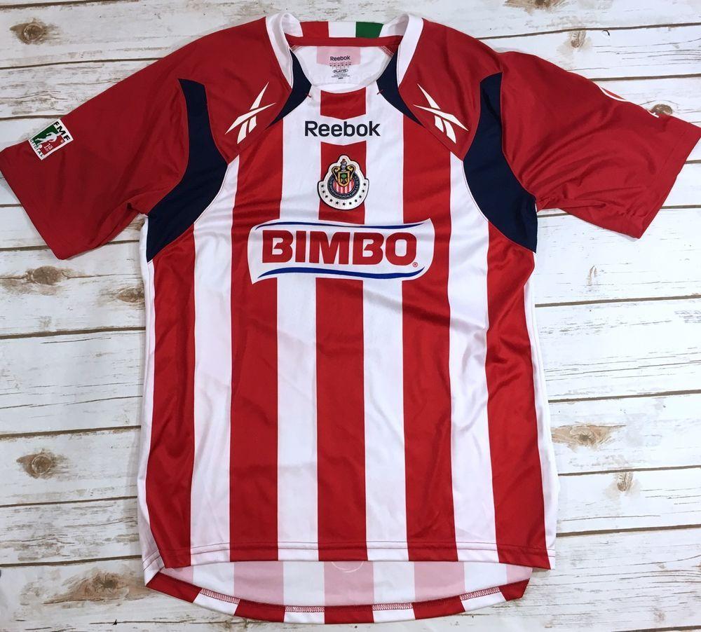 Reebok Club Deportivo Chivas de Guadalajara Mexico Soccer Jersey Mens  Medium  9400b9b41