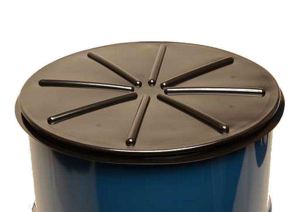 Black 55 Gallon Tight Head Polyethylene Drum Cover Black Plastic Drum Cover 55 Gallon 55 Gallon Steel Drum