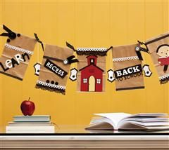 Celebrate going back to school with this darling paper bag banner.