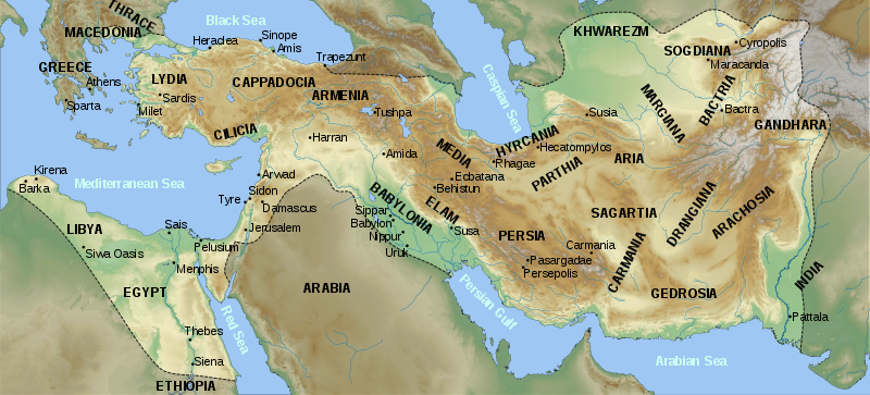 Map Of Achaemenid Empire In Russian BC Mapas Pinterest - Map of egypt 500 bc