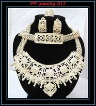 Free Shipping!!High Quality!!Necklace+Earrings+Bracelet+Ring Gold Plated African Costume Luxury Big Jewelry Sets!!(China (Mainland))