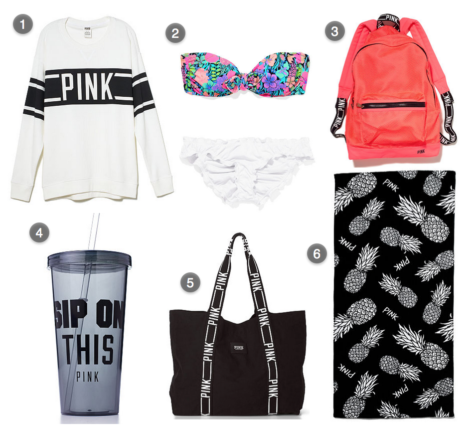 Beach Essentials! Everything that you NEED to have this summer before you hit the beach. All items from Victoria Secret. #VS #victoriasecret #bikini #mixandmatch #coral #backpack #coverup #bikinicoverup #beachtowel #tumblr #beachtote