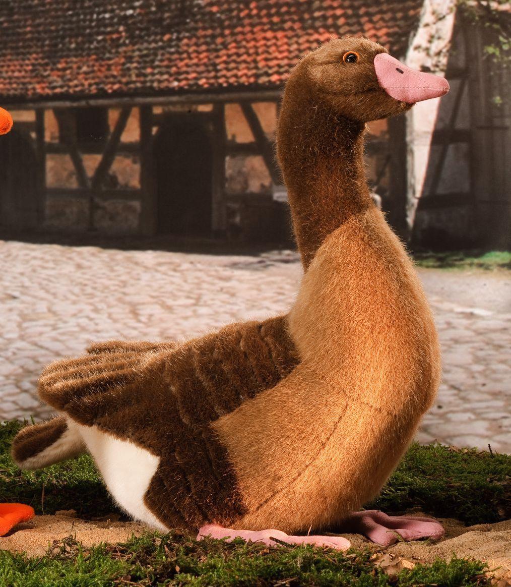 """Billingsworth"" Gray Goose Grey goose, Plush stuffed"