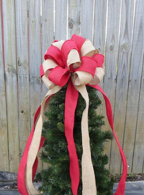 Burlap Tree Topper - Christmas Tree Topper - Burlap Tree - Primitive