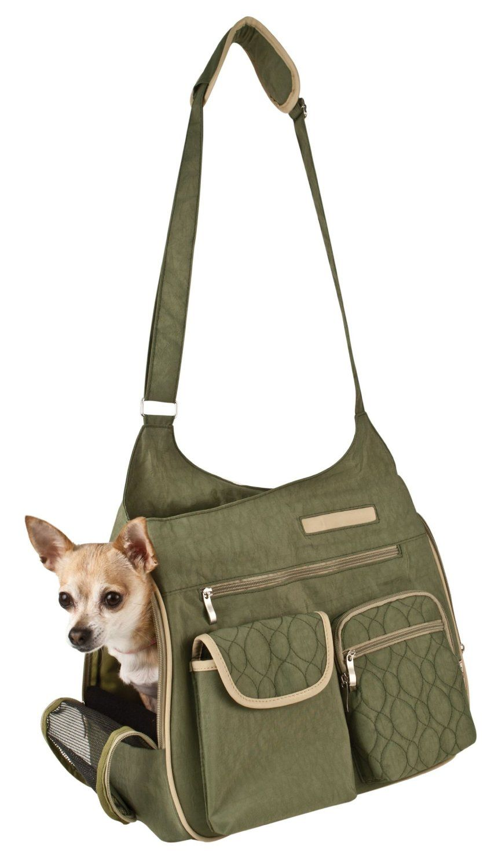 Snoozer Kelsey Cross Body Pet Bag, Sage