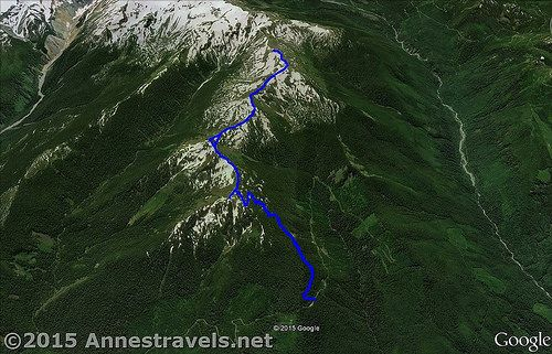 Skyline Divide Trail Visual Map - up is South; down is North ...