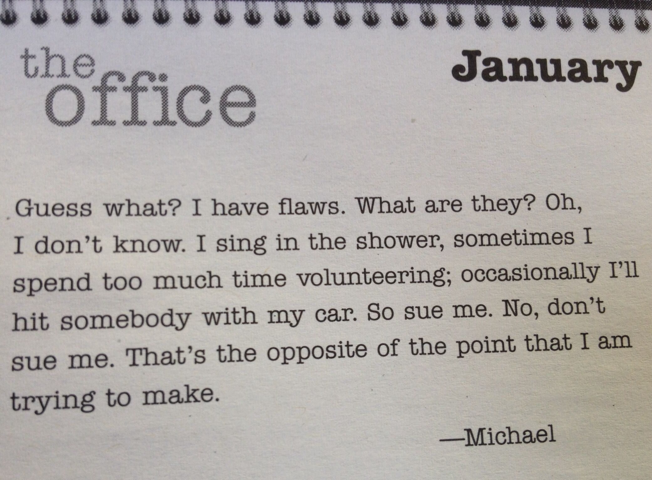 The office daily quote calendar — i neeeed this in my life ...