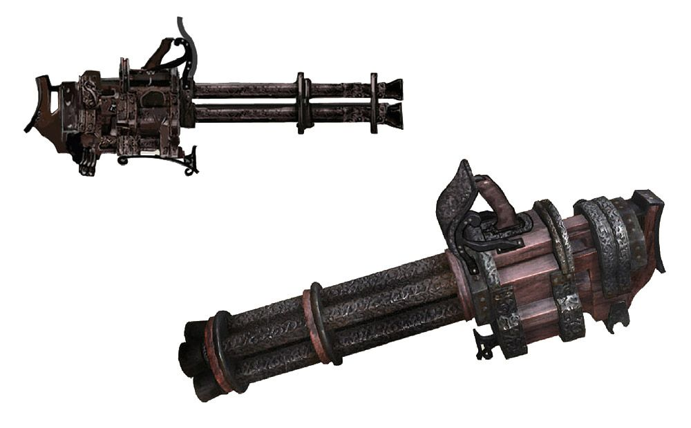 Gatling Gun from Bloodborne | Concept Art: Armor/Weapons in
