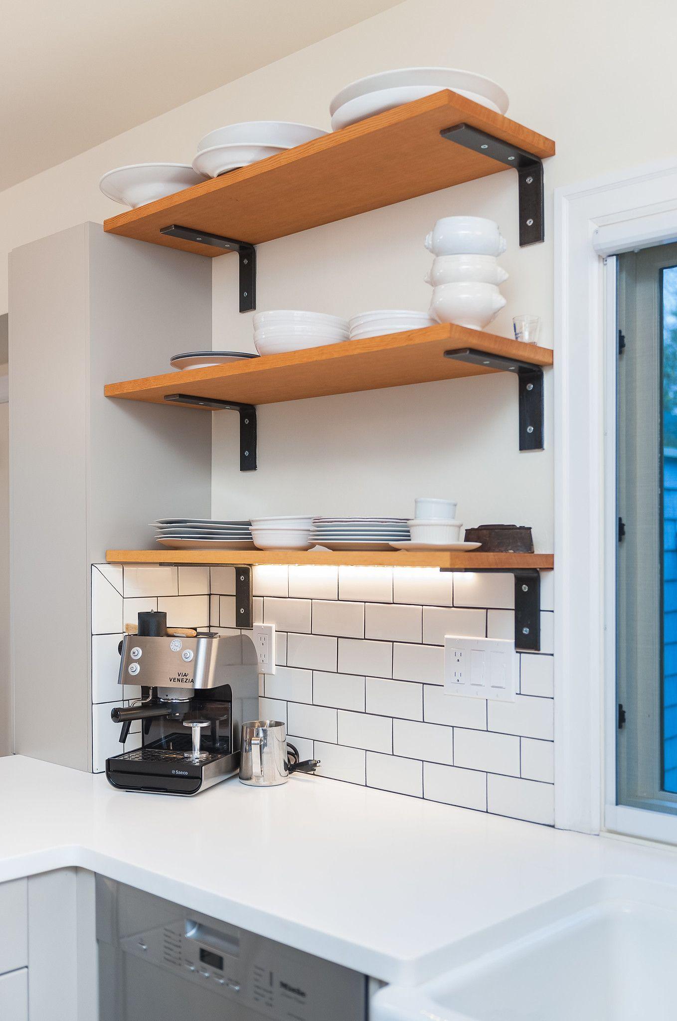 Kitchen Open Shelving Kitchen Remodel Design Kitchen Remodel White Subway Tile Backsplash