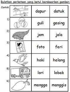Latihan Suku Kata School kids activities, Preschool