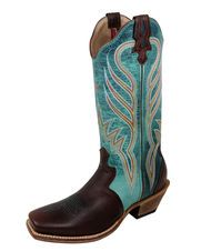 Women's Steppin' Out Square Toe 13'', Saddle / Turquoise
