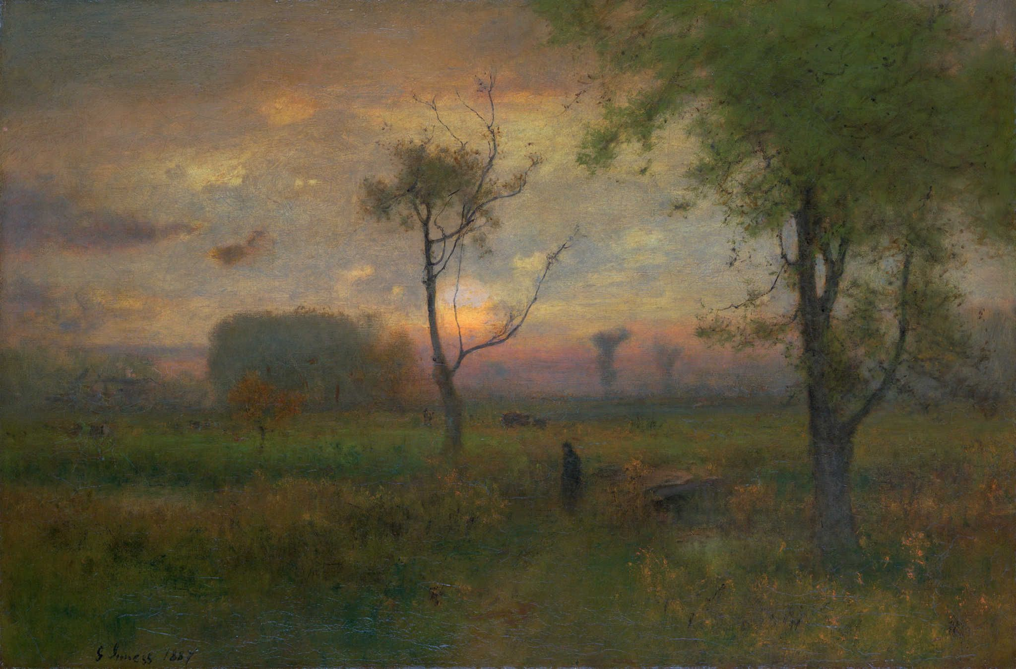 George Inness Paintings Gallery Discover Learn Print Share And Enjoy The Most Famous Painting Metropolitan Museum Of Art Painting Gallery Landscape Artist