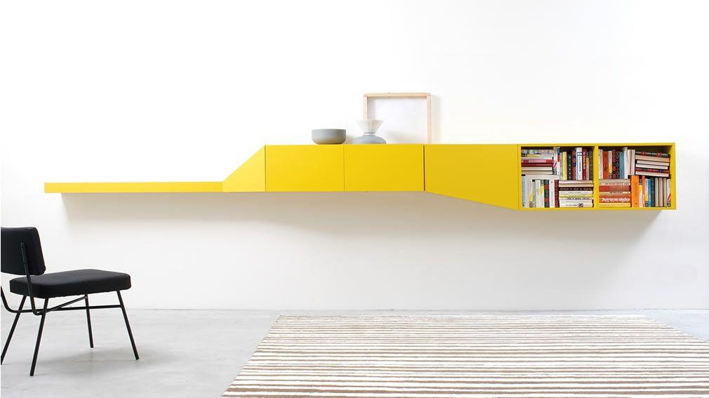 Italian Yellow Wall Unit Bookcase | products: storage. | Pinterest ...