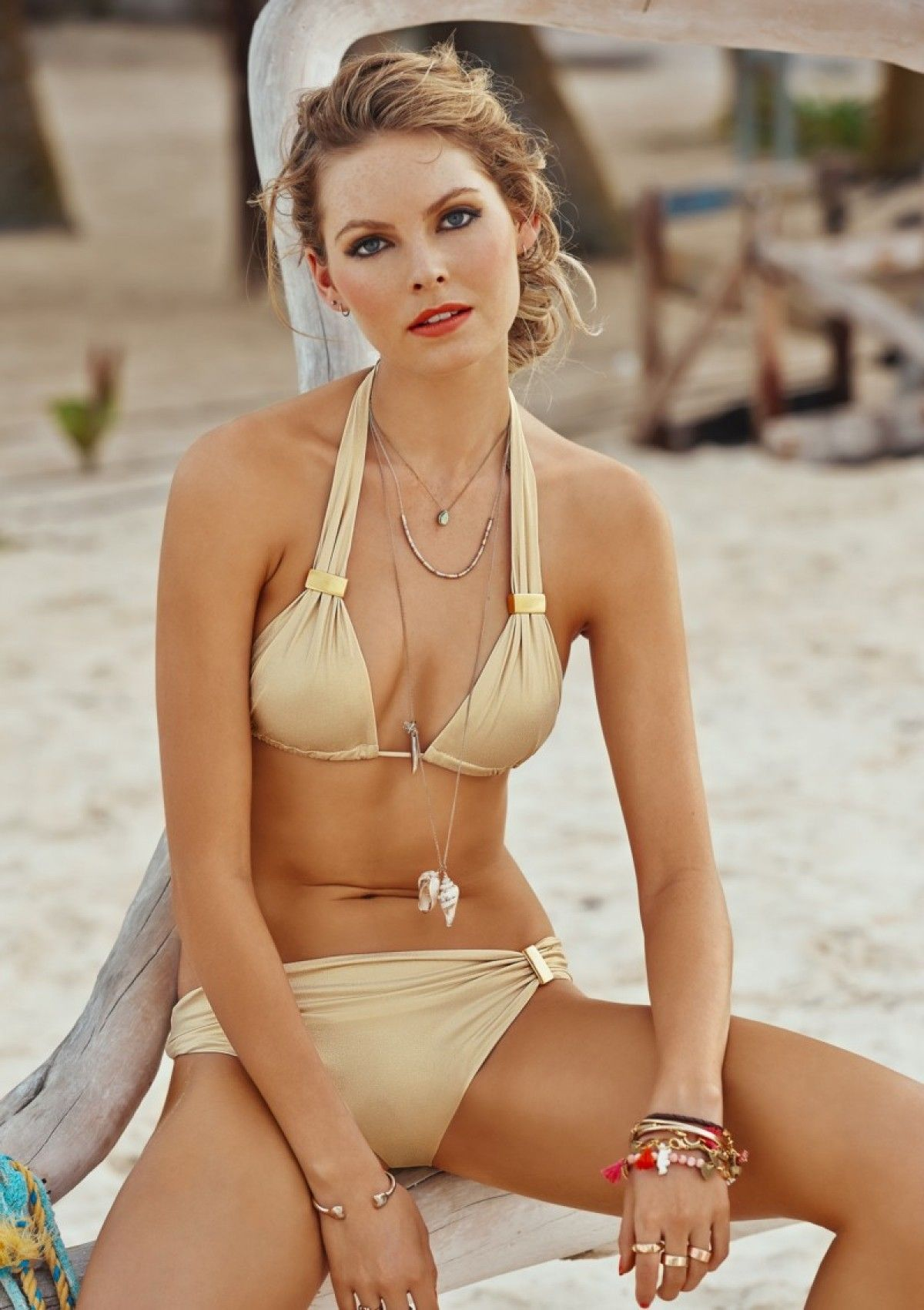 0d11e2fed5c20 2015 Malai Swimwear Gold Elementary Halter Top and Cheeky Bikini Bottom at  butterfliesandbikinis.com