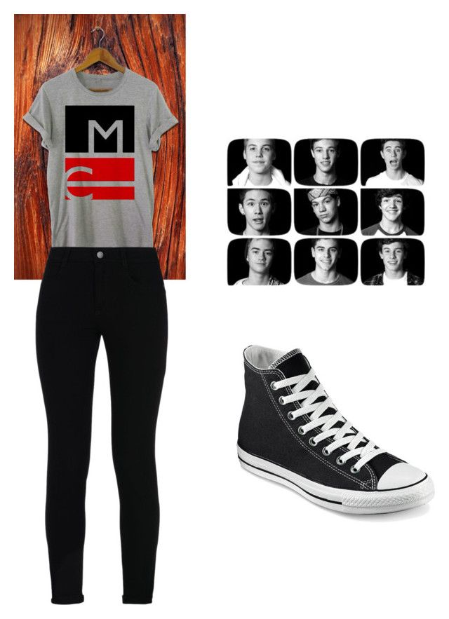"""MAGCON Day"" by fangirlmendes on Polyvore featuring STELLA McCARTNEY, Converse, women's clothing, women, female, woman, misses and juniors"
