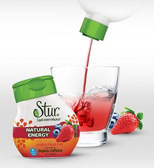 Stur Liquid Water Enhancer Natural Energy Mixed Fruit Ingredients Water Natural Fruit Flavor Extracts White Water Enhancer Flavored Water Stevia