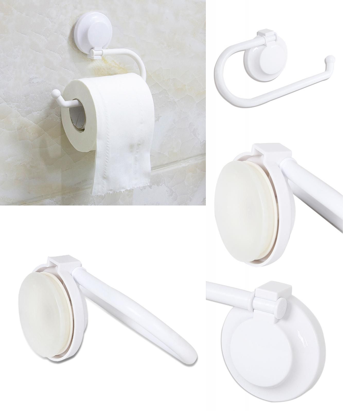 Visit to Buy] Plastic Suction up Paper Towel Holder for Kitchen ...