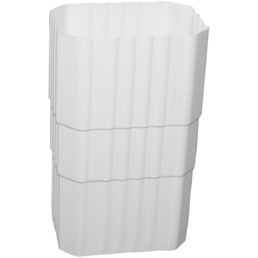 Severe Weather Duraspout 3 288 In White Vinyl Downspout Extension Lowes Com White Vinyl Downspout Severe Weather