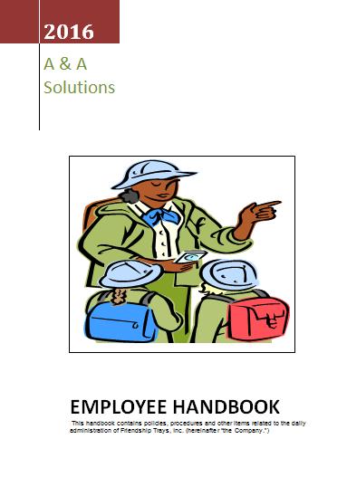 Employee Handbook Template  Wordstemplates    Employee