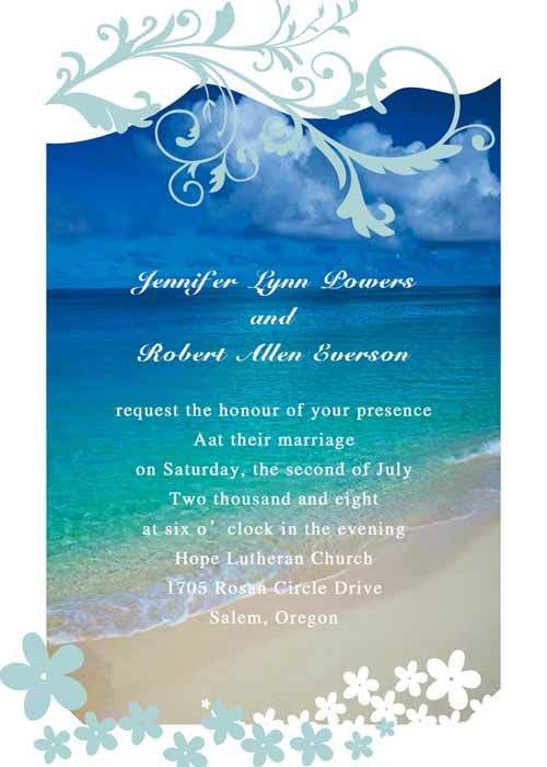 Beach And Nautical Themed Wedding Invitations Nuptials In Sunset