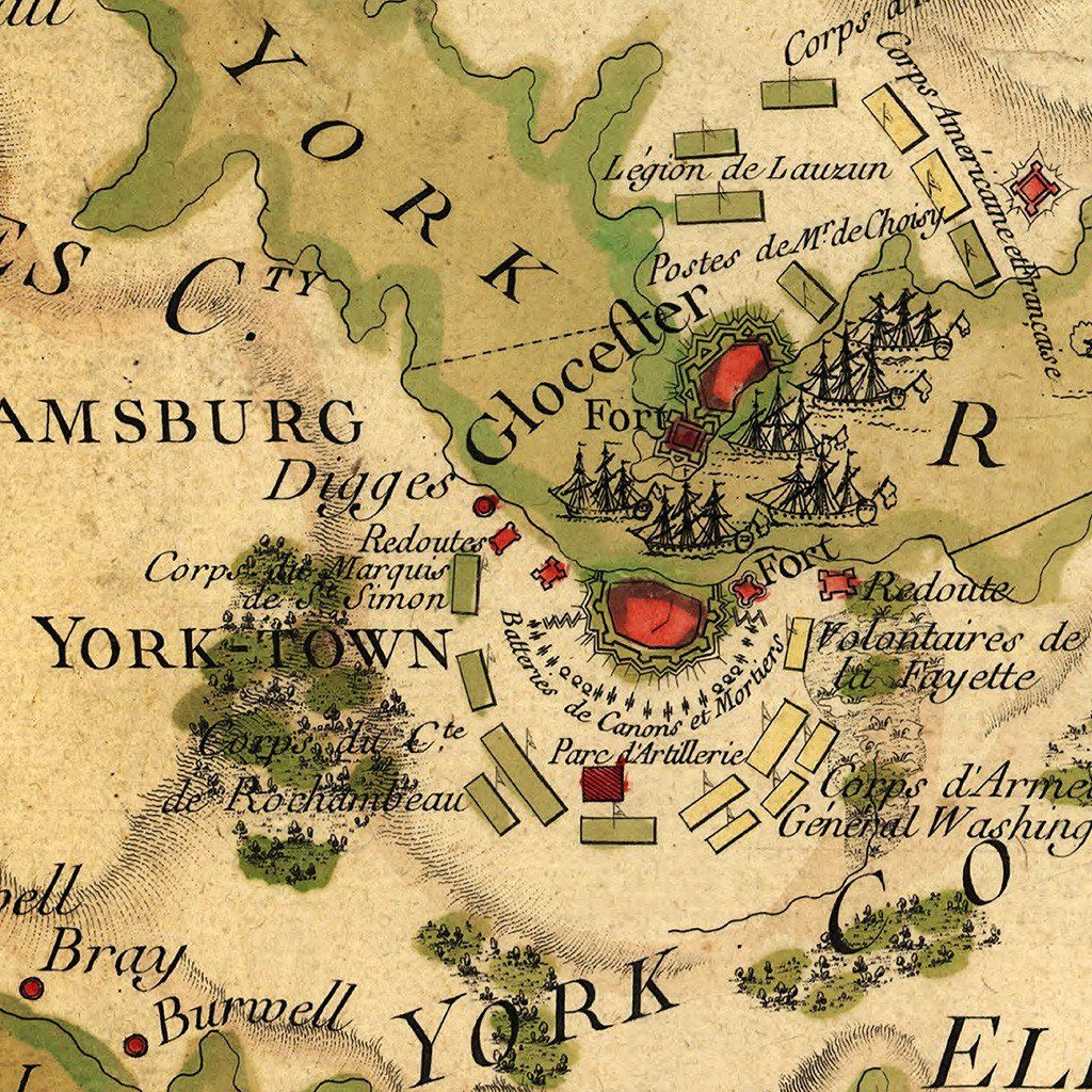 Yorktown French Naval Plan I Revolutionary War