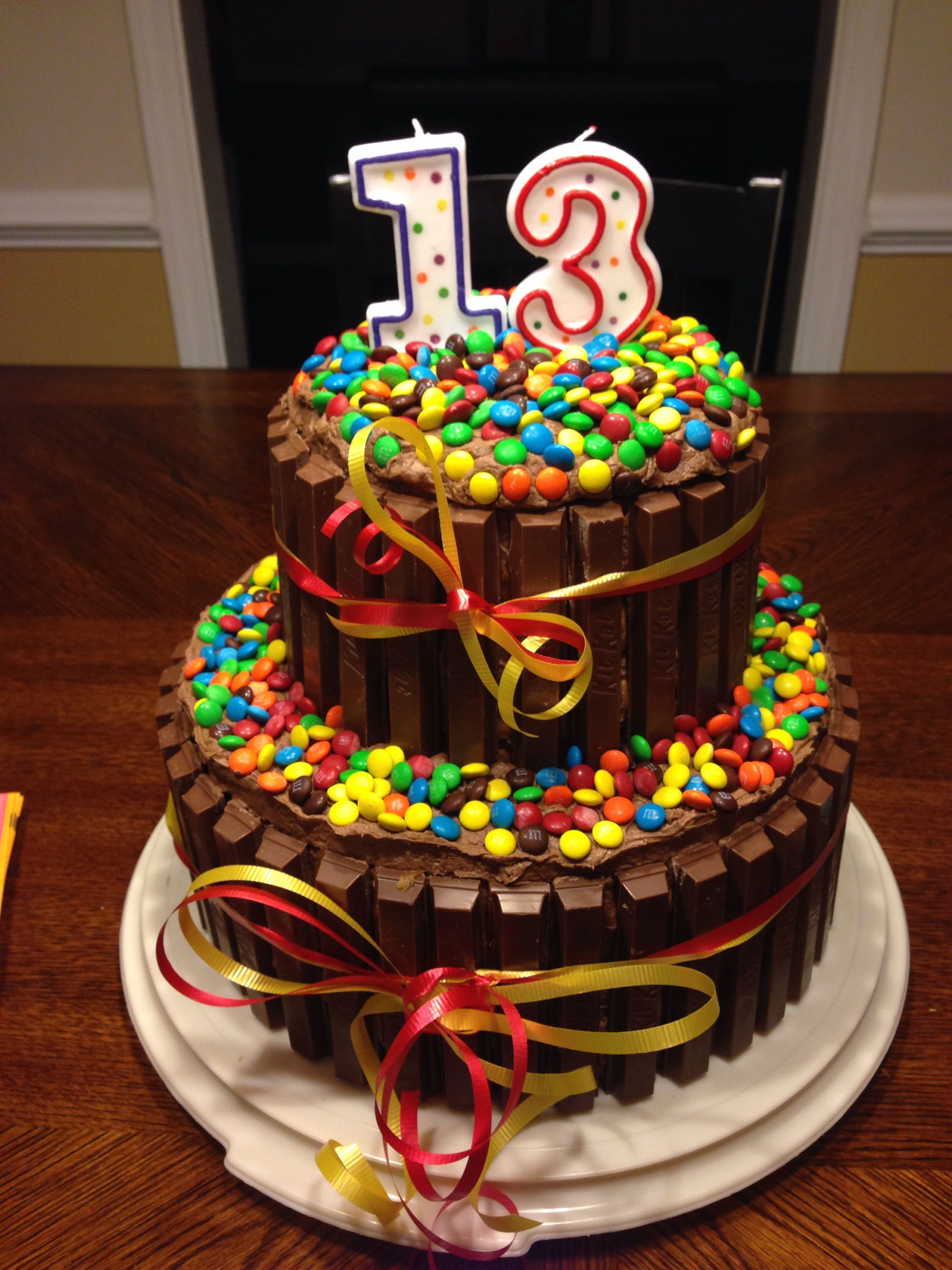 13 Year Old Boy Birthday Cake Ideas Decided To Try This For My Sons 13 Th Bday What Fun In 2020 Birthday Cakes For Teens 13th Birthday Cake For Girls 13 Birthday Cake