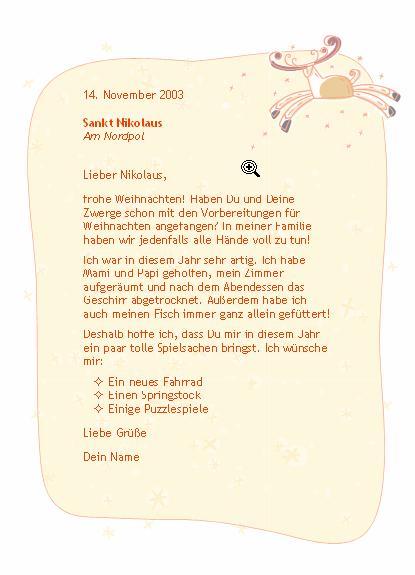 Brief Vom Weihnachtsmann Bzw Brief Vom Christkind Ebay