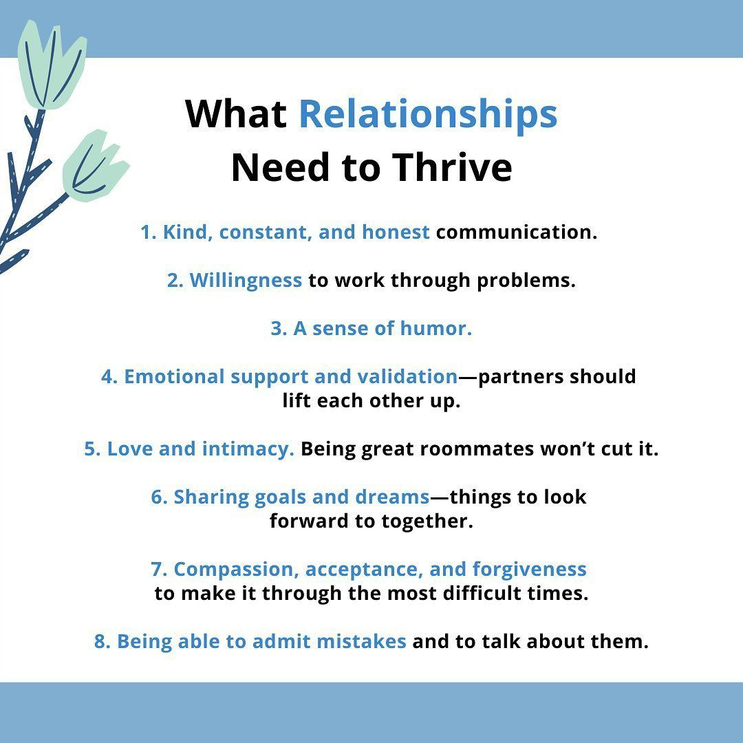 What Relationships Need to Thrive