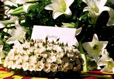 Flowers And A Card To Mummy From The Princes Harry And William