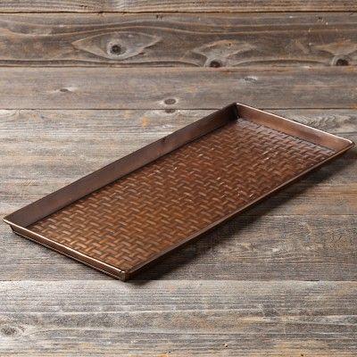 Copper Dog Bowl Tray